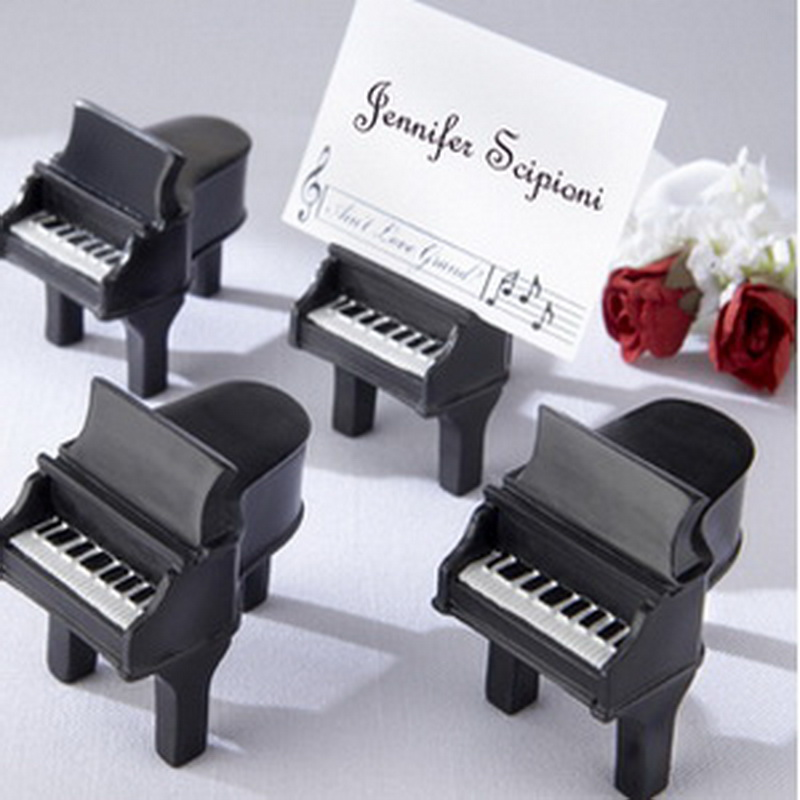 1PC Music Theme Favor Aint Love Grand Piano Place Card Holder Wedding Party Favor Clips Holder Table Number