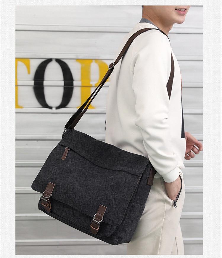 Micom Canvas Men Messenger Bags Vintage Shoulder Belt Bag Large Capacity Business Travel Bag Men\`s Canvas Crossbody Handbag New (8)