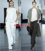 Longer Size Can fit 160cm 200cm height flare pants 2019 new Fashion brand England style Pleated was thin trousers WQ04