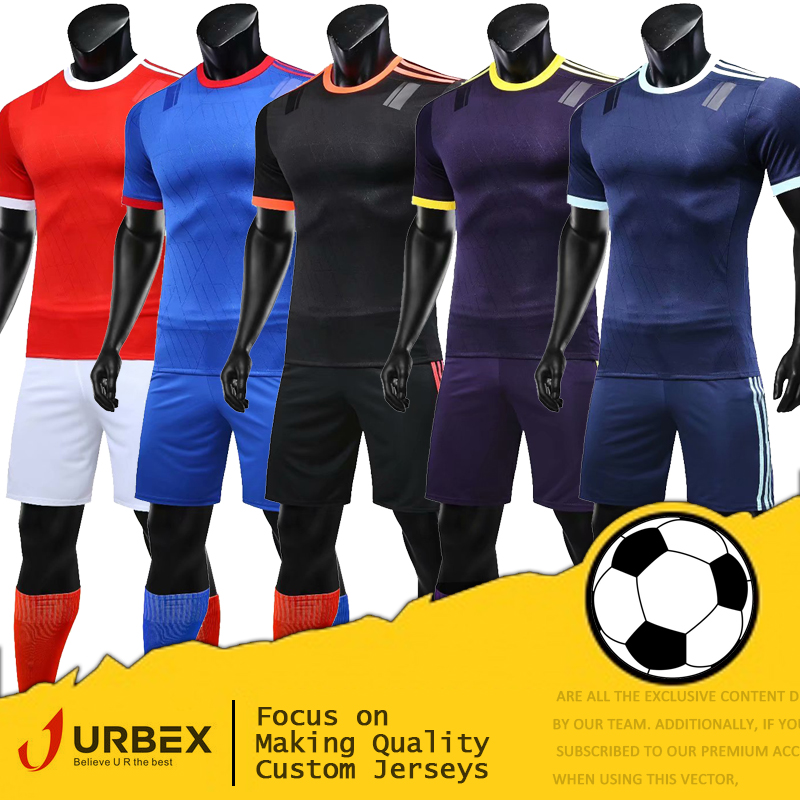Maillot de Football personnalisé URBEX personnaliser maillot de Football blanc plaine ensemble de Football bricolage votre propre Kit d'équipe personnaliser les uniformes YJ201904