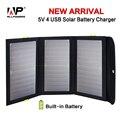 Allpowers 8000 mah portátil carregador de bateria solar 5 v 21 w energia solar 4 carregador de carga usb para iphone ipad samsung htc sony huawei