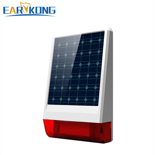 2019 High quality Wireless Solar Siren For GSM Alarm System / Home Burglar Alarm System Earykong Brand Free shipping