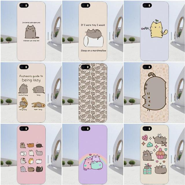 Soft TPU Cool Best Cover Case For Apple iPhone X 4 4S 5 5C SE 6 6S 7 8 Plus  For LG G4 G5 G6 K4 K7 K8 K10 Pusheen The Cat-in Half-wrapped Case from