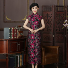 New Arrival Fashion Long Women Cheongsam Dress Chinese Ladies Elegant Qipao Novelty Sexy Dress Size S M L XL XXL 3XL F102456