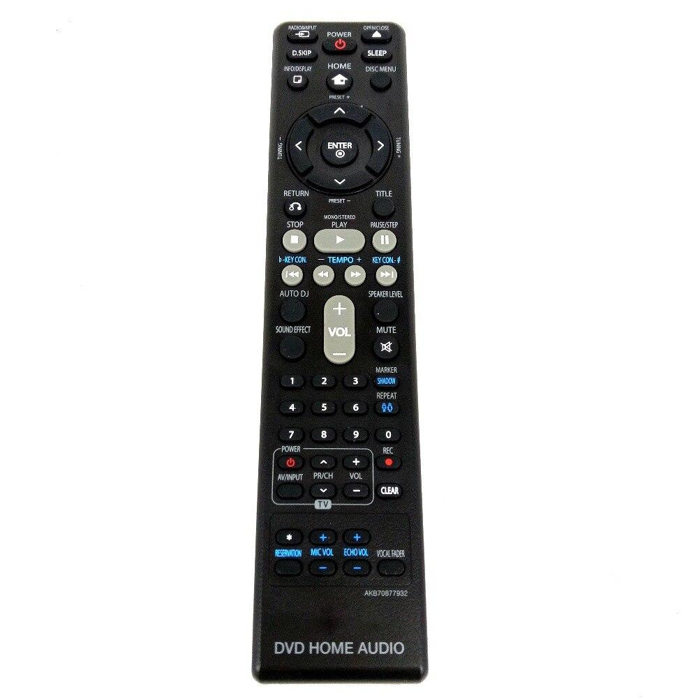 Nuevo original para lg dvd audio para el hogar de control remoto akb70877932 fer