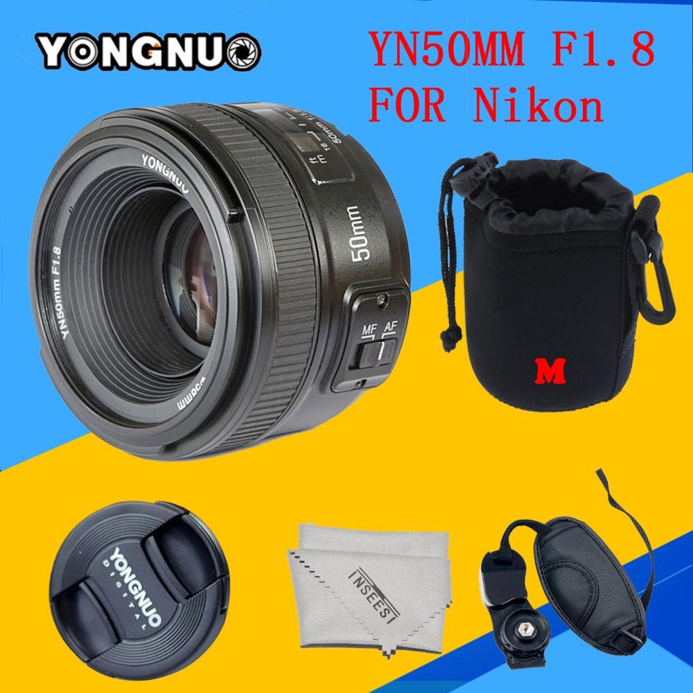 YONGNUO YN50MM F1.8 AF Lens YN50mm Aperture Auto Focus Lens for Nikon d7100 d3100 d5100 d5300 d7000 d90 d5200 d7200 d750 d610