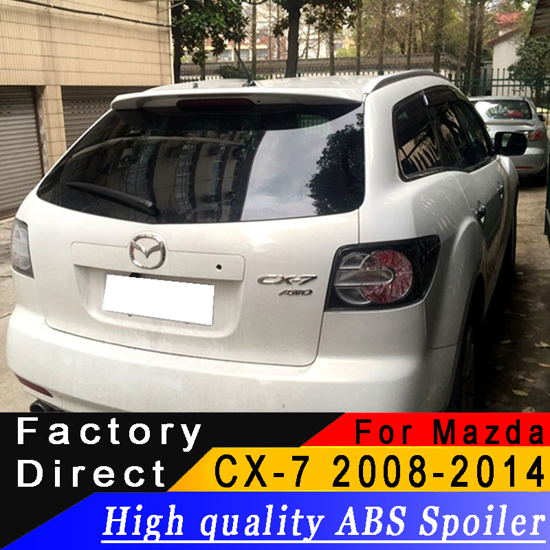 For Mazda CX7 2008 to 2014 Rear wing spoiler high quality ABS Material spoiler Primer or any color for MazdaFor Mazda CX7 2008 to 2014 Rear wing spoiler high quality ABS Material spoiler Primer or any color for Mazda