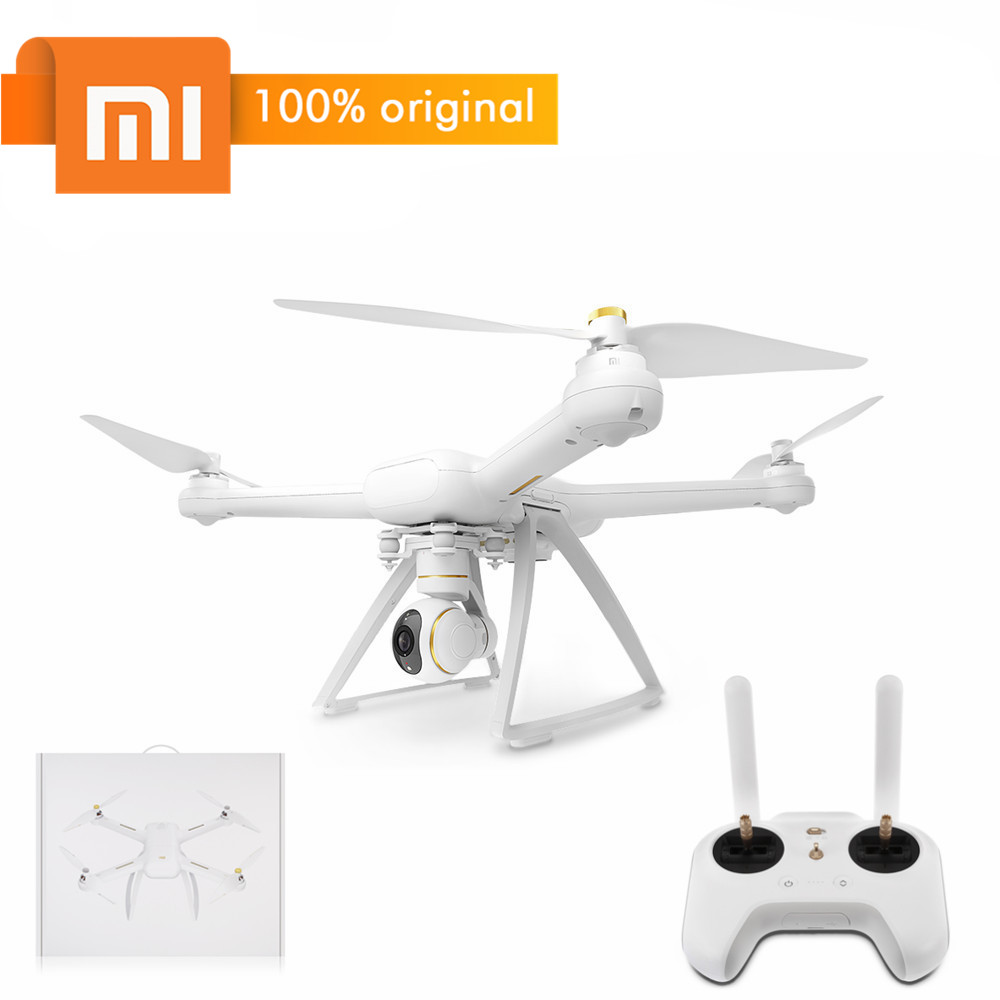 Original XIAOMI Mi Drone HD 4K WiFi FPV 5GHz 3840 x 2160P 30fps Quadcopter Tap to Fly with Propeller Protector RC Quadcopters xiaomi 4k drone propeller front and back 4pcs