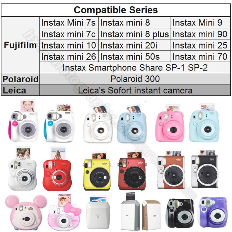 6 Color Photo Album Boxes For Fujifilm Polaroid Instax Mini 8 90 50 70 Case C-L
