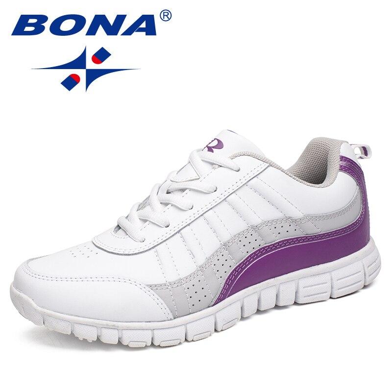 BONA Neue Heiße Stil Frauen Laufschuhe Lace Up Sportschuhe Outdoor Walking Jogging Schuhe Bequeme Turnschuhe Freies Verschiffen