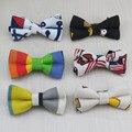 В дети в брезент галстук-бабочка / A общей сложности семь узор / милый и / симпсон губ и т . д . дизайн