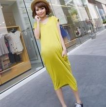 2016 Summer modal maternity clothes long maternity dress short sleeve pregnant women dresses SH-QYR54