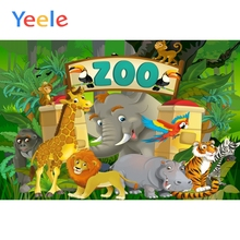 Yeele Zoo Animals Party Backgrounds Wall Baby Newborn Portrait Cartoon Scene Photography Photographic Backdrops For Photo Studio