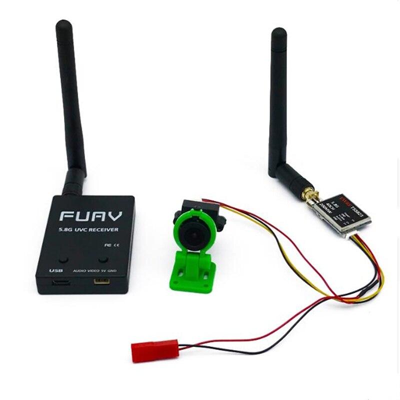 Prêt à utiliser 5.8G FPV récepteur UVC vidéo liaison descendante OTG VR téléphone Android + vidéo 200/600 mw émetteur TS5823 + CMOS 1000TVL caméra