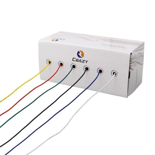 CBAZ Hook up Wire Kit (Stranded Wire Kit) 26 Gauge 6 colors 32.8 ...