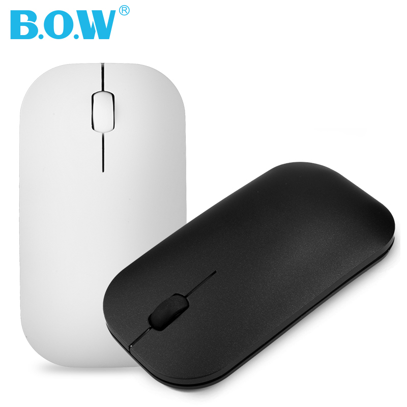 B.O.W Slim Silent Rechargeable Wireless Mouse	Thin Optical Mouse With USB Receiver For Notebook, PC, Laptop, Computer, Macbook