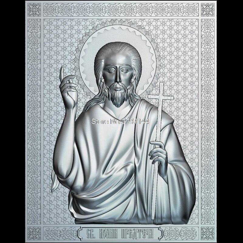St. John die Täufer 3d modell für cnc STL-format Religion 3d Relief Modell STL Router 3 achsen Engraver ArtCam