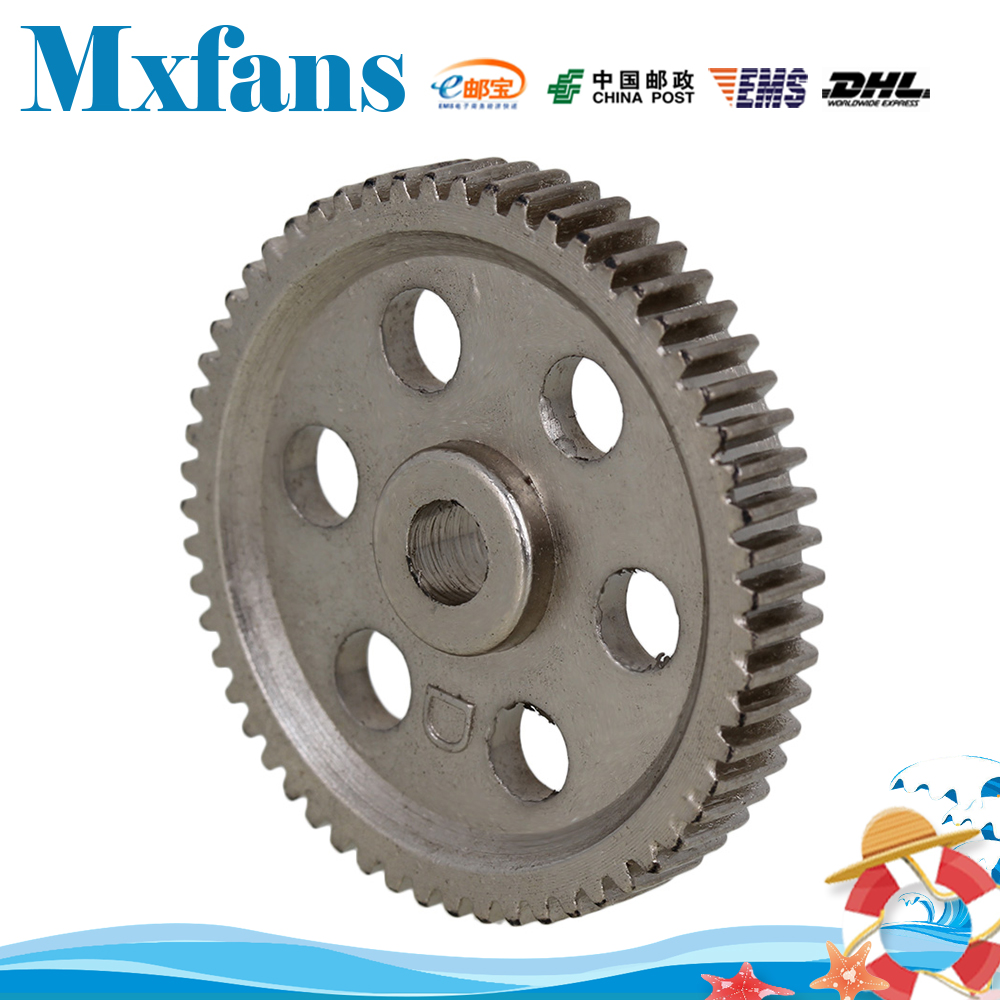 Mxfans 03004 Silver Steel Metal 58 Teeth 58T Differential Main Gear for HSP RC 1:10 Car