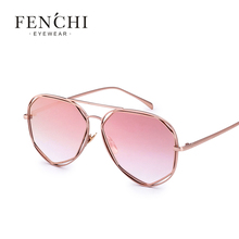 Fenchi NEW hot woman female pilot sunglasses Fashion woman brand design coating mirror
