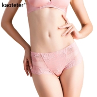 100 Pure Silk Panties Women High Quality Breathable Sexy Lace Mid Rise Briefs Solid Everyday Underwear