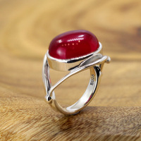Guaranteed 925 Silver Sterling Ruby Ring Designer Jewelry Luxury Womens Rings Natural Stone Adjustable Fine Jewelry Anelli Donna