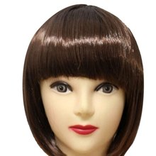 2018 New Women Short BOB Hair Wig Straight Bangs Cosplay Party Stage Show 13 Colors Party Supplies(China)
