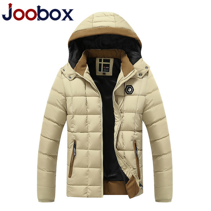 JOOBOX Brand 2017 New Mens Winter Jackets and Coats Thicken Warm jacket Hooded Cotton-Padded Male Fashion Clothing Hommer Parkas winter jacket women nice new style parkas overcoat brand fashion hooded plus size cotton padded warm jackets and coats aw1148
