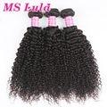 MS Lula hair Free shipping Mongolian kinky curly virgin hair 3 bundles/lot Grade 7A Unprocessed human hair One donor