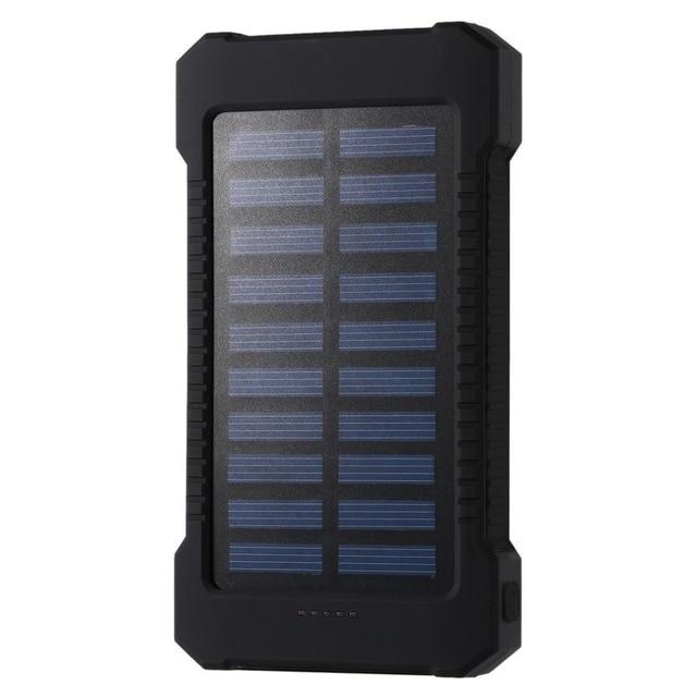 Portable batterie Portable solaire 30000 mah Imperméable À L'eau De Secours De Batterie Externe Powerbank 30000 mah Chargeur de Batterie De Téléphone LED Povre Banque