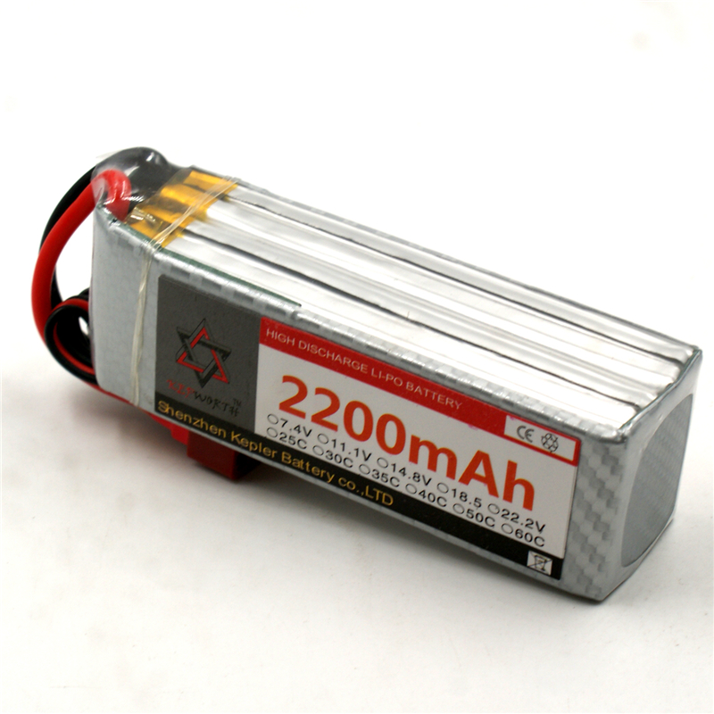 4s <font><b>14.8v</b></font> <font><b>2200mAh</b></font> Lipo <font><b>Battery</b></font> RC Car Plane Boat Lithium Ion Polymer <font><b>Battery</b></font> For Truck Tank Drone Helicopter image