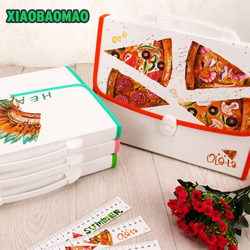 Handle style Children's Student Kawaii Carpetas Stationery Carpeta File Folder 13 layers A4 Document Bag Office Carpetas free shipping business office school stationery products data volumes inset bag a4 loose leaf carpetas folder pasta escolar002