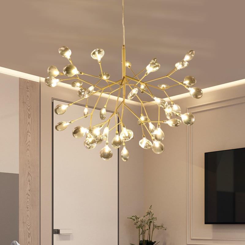 LED branche arbre lustre cuisine Restaurant Bar heracleum lustre salon éclairage Art décor luminaire suspendu luminaires