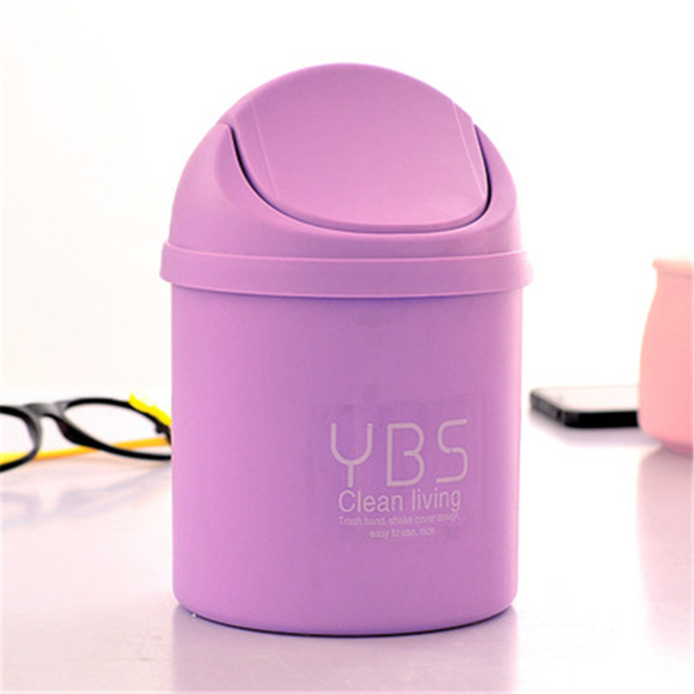 NEW Car Garbage Purple Can Car Trash Mini Creative Trumpet Desktops Covered Kitchen Living Room Trash Can car-styling p#