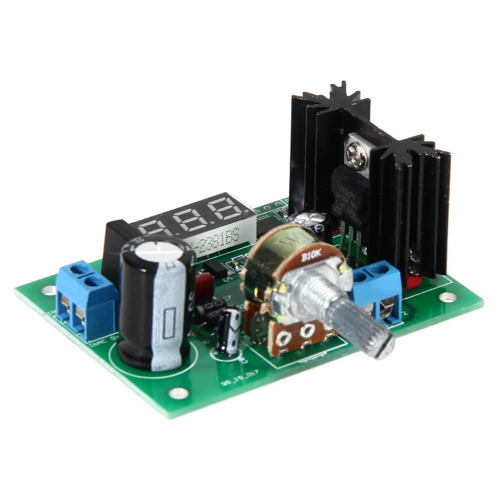 Lm317 Ac Dc 125 28v Led Display Adjustable Voltage Regulator This Module With Or Input The Output Is 125v Continuously Versatile For Board