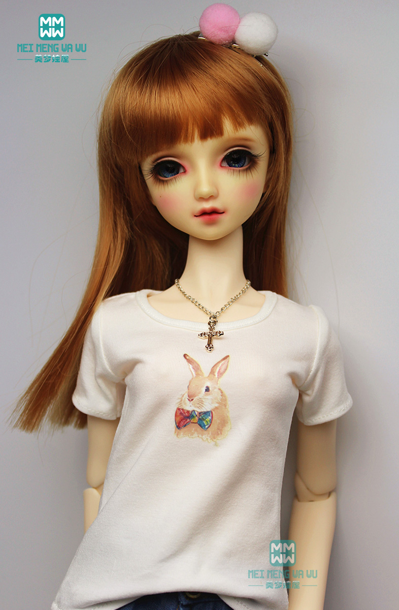 <font><b>BJD</b></font> accessories doll <font><b>clothes</b></font> for 27cm-60cm <font><b>1/3</b></font> 1/4 1/6 <font><b>BJD</b></font> doll fashion style T-shirt underwear image