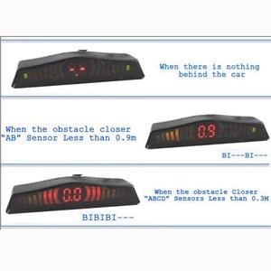 Image 4 - Оригинальный светодиодный датчик парковки Koorinwoo, автомобильный парковочный датчик, разноцветный набор, 4 зонда, автомобильный радар заднего хода, Парктроник, Индикатор оповещения