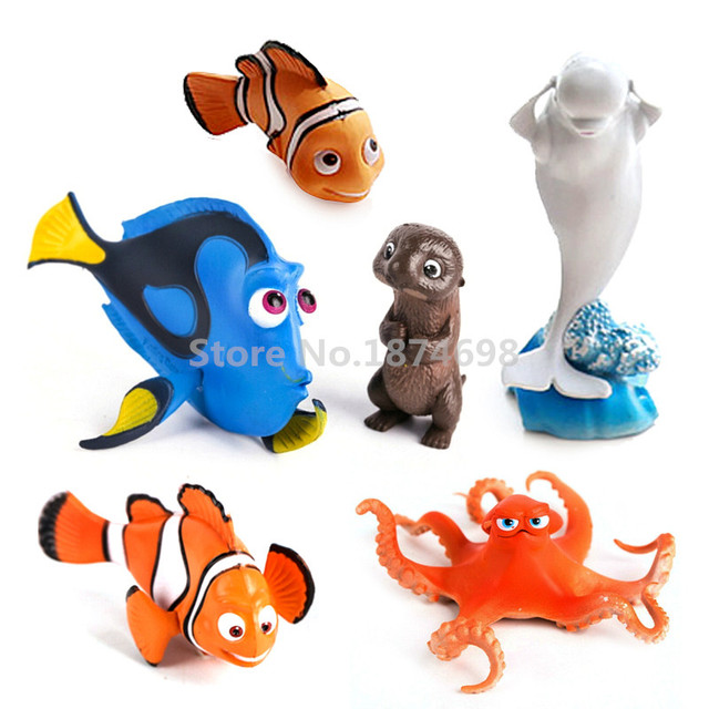 new finding dory figures toy set of 6 dory nemo marlin sea otter