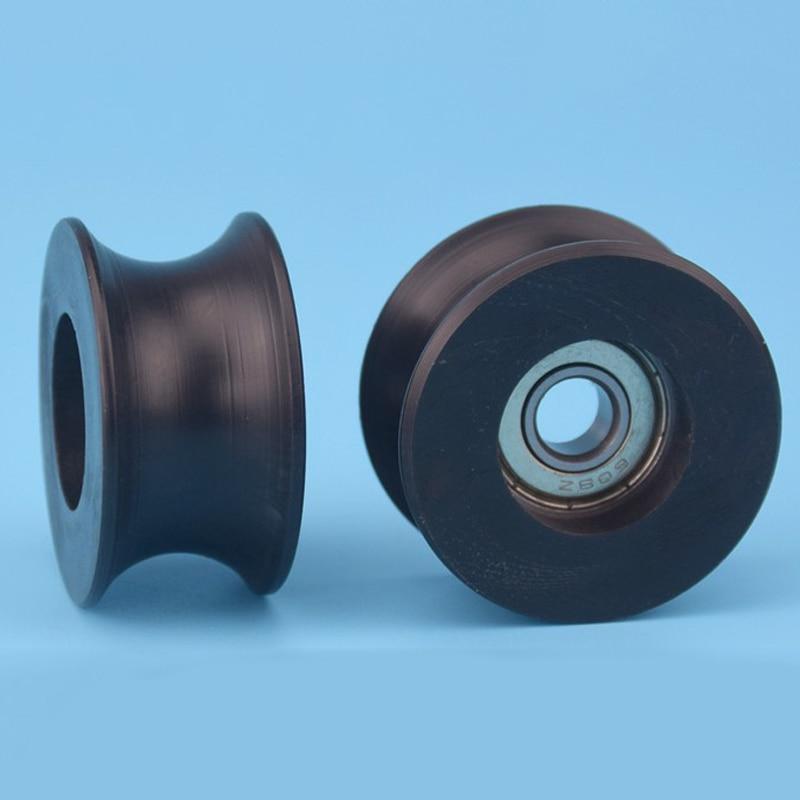 1pc 0840UU 8mm Deep Groove Bearing Guide Pulley Sealed Rail Track Ball Bearing 8*40*20.7mm Mayitr 1 piece bu3328 6 6 33 27 5 29 5 mm z25 guide rail u groove plastic roller embedded dual bearing