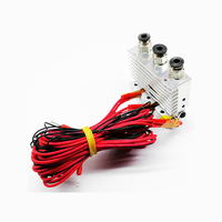 HE3D hotend triple Nozzle for 3D Printer Extruder Three in three out nozzle kit