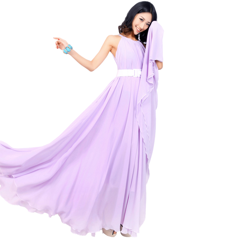 US $26.95 23% OFF|Lavender dress Summer Sundress Holiday Beach Maxi Dress  Party Guest Sundress Plus Size Boho maternity Bridesmaid-in Dresses from ...