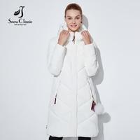 SnowClassic women winter jacket Thin short parka Hood coats luxury outerwear Argyle jacket female Preppy Style winter coats 2018