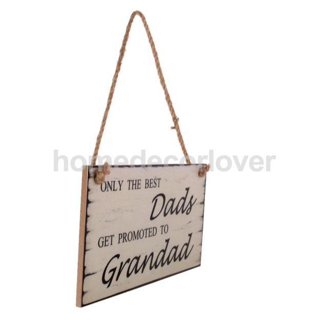 Vintage Dad Grandad Birthday Fathers Day Gift Wall Hanging Plaque Sign Decor