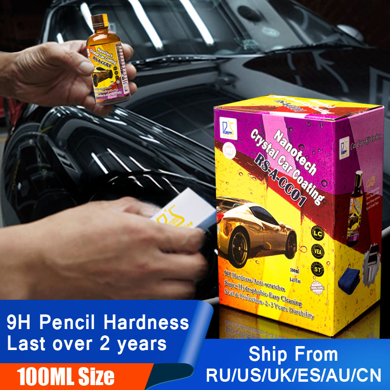 car coating no packing box 9h pencil hardness high gloss and hydrophobic 100ml Free Shippment ! HOT SELL !!!!!!