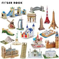 Hot Selling Magic 3D Puzzle Kids Educational Toys DIY Paper Puzzles Jigsaw For Children Adults House