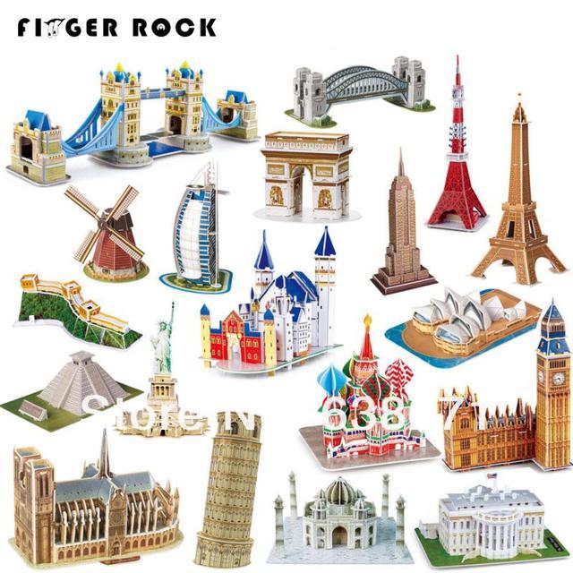 Heißer Verkauf Magic 3D Puzzle Kinder Lernspielzeug DIY Papier ...