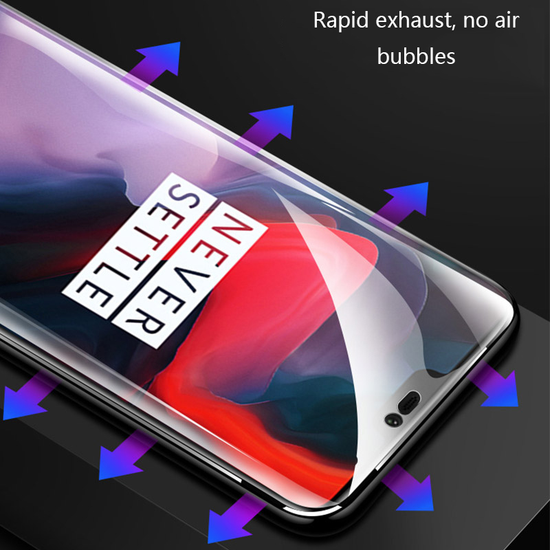 Hydrogel Film For Oneplus 7 pro Screen Protector For Oneplus 7 6 6T 5T 3D Full Cover Soft oneplus 7 tempered glass Not Glass in Phone Screen Protectors from Cellphones Telecommunications