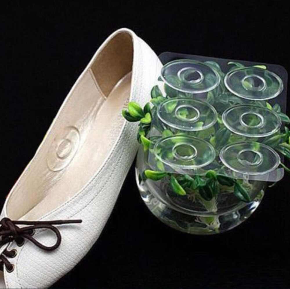 6 шт./партия подушка для ног силиконовая Подушечка для обуви наклейки самоклеющиеся клейкие силиконовый гель стелька для обуви вставки коврик