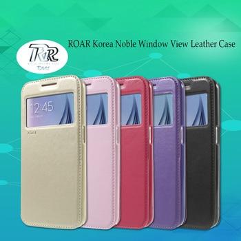 Roar Corea noble ver ventana cuero Flip funda para funda Sony Xperia C6/Xperia XA ultra f3212 f3216 teléfono Carcasas coque