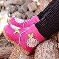 2016 новая мода зима Дети снегоступы девушки сапоги натуральная кожа детская обувь девушки chaussure филь botte