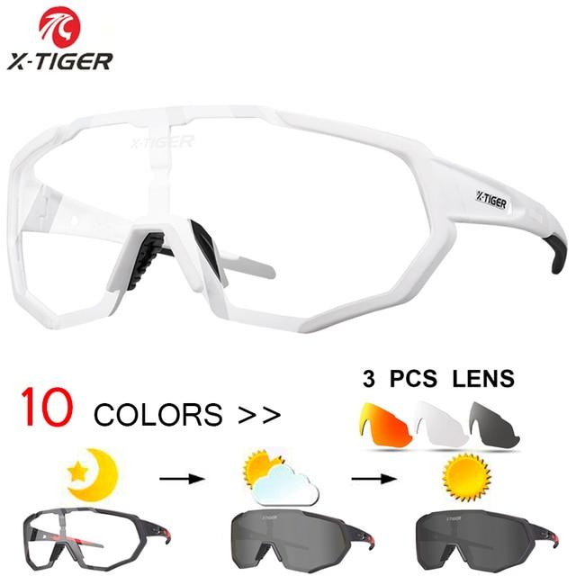 abc6e418b4 Gafas de ciclismo polarizadas fotocrómicas X-TIGER gafas deportivas gafas de  bicicleta de cristal MTB